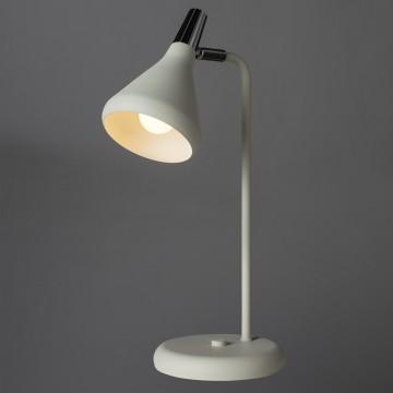 Настольная лампа Arte Lamp Ciclone A9154LT-1WH, 1xE14x40W, белый, хром, металл