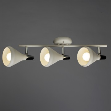 Потолочный светильник с регулировкой направления света Arte Lamp Ciclone A9154PL-3WH, 3xE14x40W, белый, хром, металл - миниатюра 1