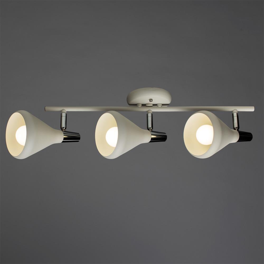 Потолочный светильник с регулировкой направления света Arte Lamp Ciclone A9154PL-3WH, 3xE14x40W, белый, хром, металл - фото 1