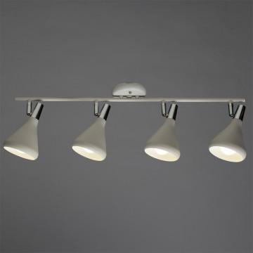 Потолочный светильник с регулировкой направления света Arte Lamp Ciclone A9154PL-4WH, 4xE14x40W, белый, хром, металл