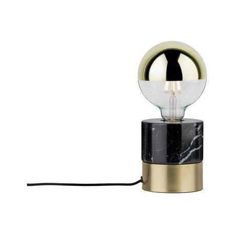 Настольная лампа Paulmann Neordic Vala 79742, 1xE27x20W, черный, матовое золото, металл, мрамор