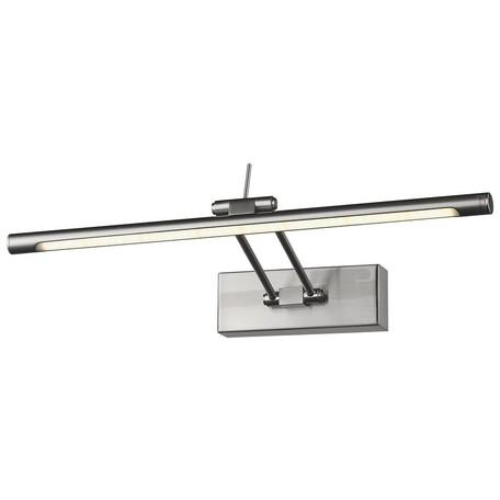 Настенный светодиодный светильник Wertmark Flores WE428.01.201, LED 7,68W 3000K, никель, металл