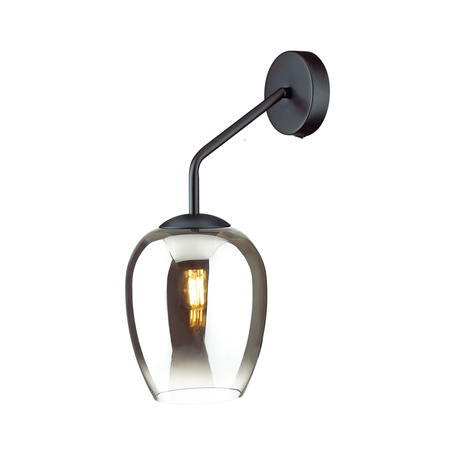 Бра Odeon Light Modern Palta 4759/1W, 1xE27x60W, черный, дымчатый, металл, стекло