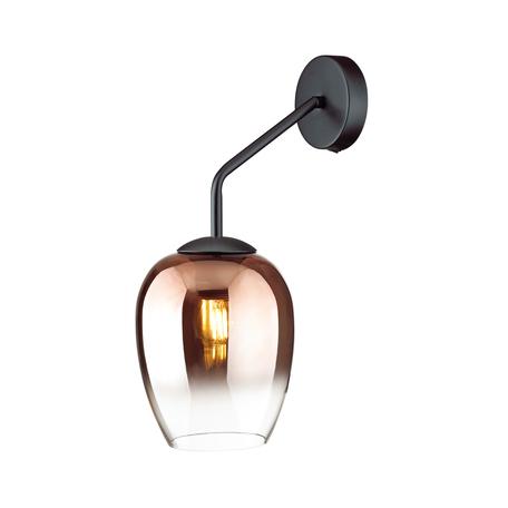 Бра Odeon Light Modern Palta 4760/1W, 1xE27x60W, черный, медь, металл, стекло