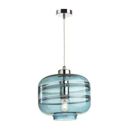 Подвесной светильник Odeon Light Pendant Storbi 4770/1, 1xE27x60W, хром, синий, металл, стекло