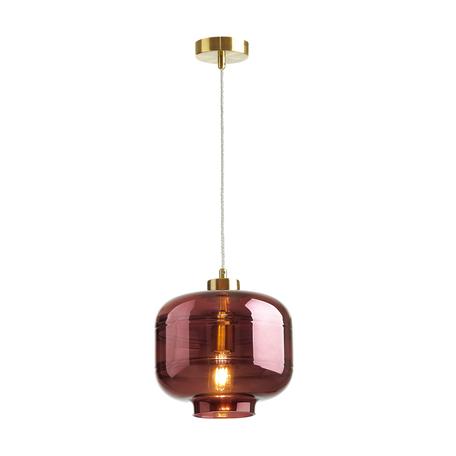 Подвесной светильник Odeon Light Pendant Storbi 4772/1, 1xE27x60W, бронза, бордовый, металл, стекло