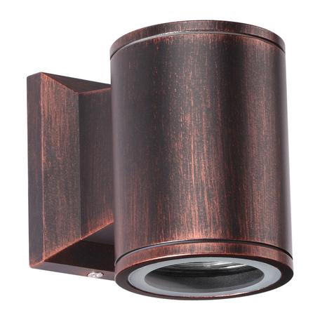 Настенный светильник Novotech Street Landscape 370406, IP54, 1xGU10x50W, медь, металл, стекло
