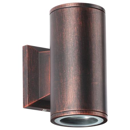 Настенный светильник Novotech Landscape 370407, IP54, 2xGU10x50W, медь, металл, стекло