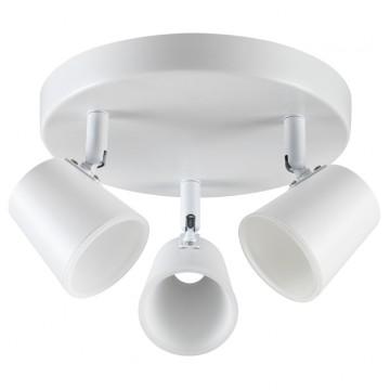 Потолочная светодиодная люстра с регулировкой направления света Novotech Campana 357854, LED 18W 3000K (теплый), белый, металл, пластик - миниатюра 1