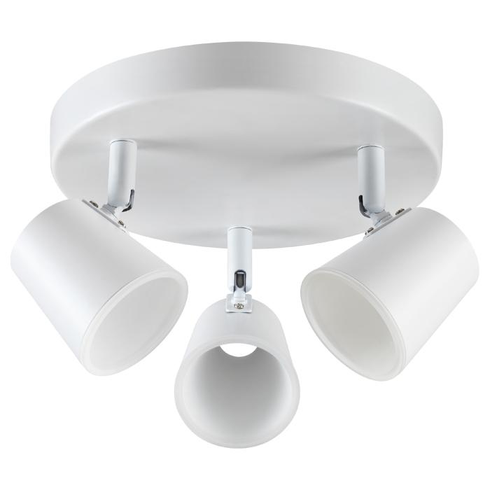 Потолочная светодиодная люстра с регулировкой направления света Novotech Campana 357854, LED 18W 3000K (теплый), белый, металл, пластик - фото 1