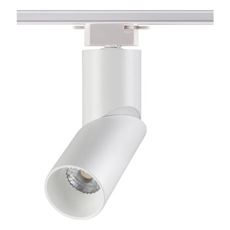 Светодиодный светильник с регулировкой направления света для шинной системы Novotech Port Union 357837, IP33, LED 10W 3000K 1100lm, белый, металл