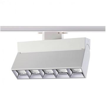 Светодиодный светильник с регулировкой направления света для шинной системы Novotech Eos 357842, IP33, LED 25W 3000K 2750lm, белый, металл