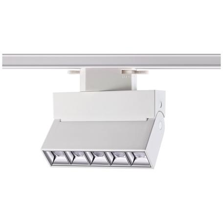 Светодиодный светильник с регулировкой направления света для шинной системы Novotech Eos 357844, IP33, LED 13W 3000K 1430lm, белый, металл