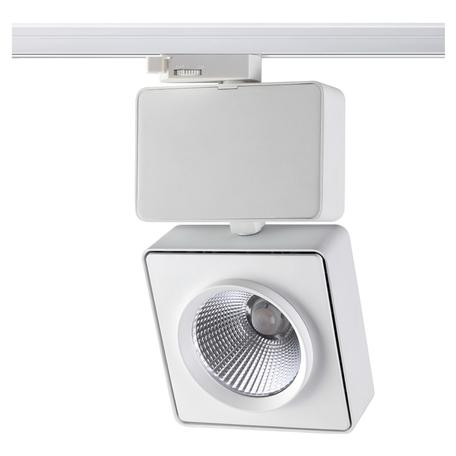 Светодиодный светильник с регулировкой направления света для шинной системы Novotech Port Zeus 357871, LED 41W 3000K 4094lm, белый, металл