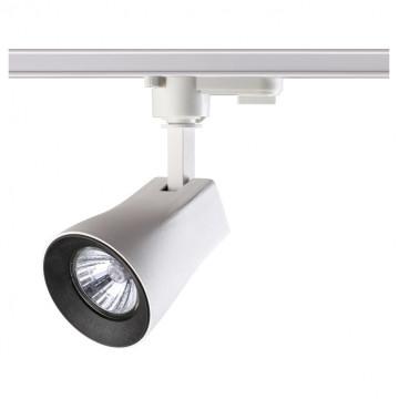Светильник с регулировкой направления света для шинной системы Novotech Pipe 370404, IP33, 1xGU10x50W, белый, черно-белый, металл