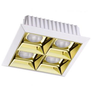 Встраиваемый светодиодный светильник Novotech Antey 357851, IP33, LED 28W 3000K (теплый), белый, золото, металл