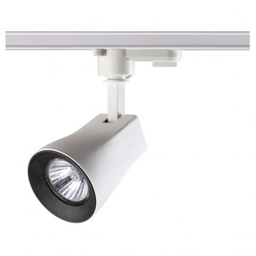 Светильник для шинной системы Novotech Pipe 370404, IP33, 1xGU10x50W, белый, черный, металл
