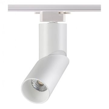 Светодиодный светильник с регулировкой направления света для шинной системы Novotech Union 357837, IP33, LED 10W 3000K 1100lm, белый, металл