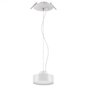 Встраиваемый подвесной светодиодный светильник Novotech Spot Prometa 357882, LED 25W 3000K 2200lm, белый, металл, пластик