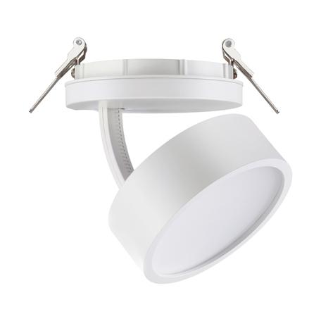 Встраиваемый светодиодный светильник с регулировкой направления света Novotech Spot Prometa 357879, LED 25W 3000K 2200lm, белый, металл, пластик