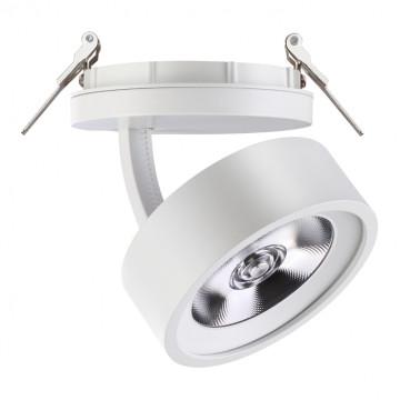 Встраиваемый светодиодный светильник с регулировкой направления света Novotech Spot Prometa 357875, LED 25W 3000K 2000lm, белый, металл