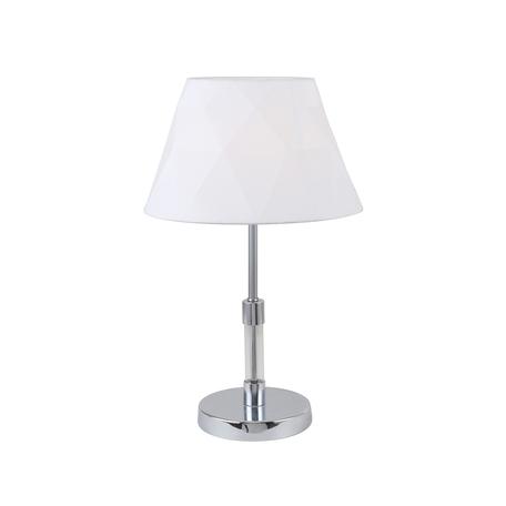 Настольная лампа Favourite F-Promo Lilian 2659-1T, 1xE14x40W, хром, белый, металл со стеклом, текстиль