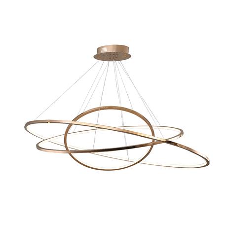 Подвесной светодиодный светильник Newport 15203/S gold, LED 67W, матовое золото, металл, металл с пластиком