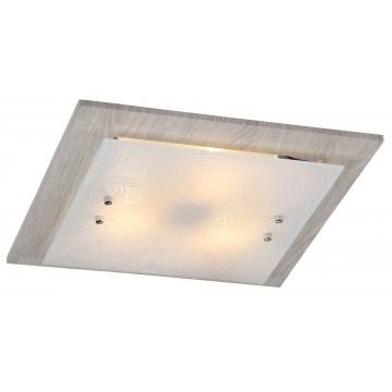 Потолочный светильник Freya Constanta FR4813-CL-03-W (cl813-03-w), 3xE27x60W, бежевый, белый, металл, стекло