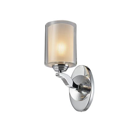 Бра Newport 7901/A, 1xE14x60W, хром, белый, металл, стекло