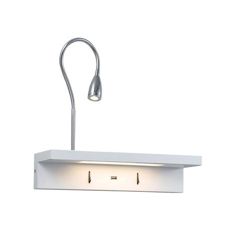 Настенный светодиодный светильник с регулировкой направления света с дополнительной подсветкой Newport 14901/L, LED 12W, белый, хром, металл