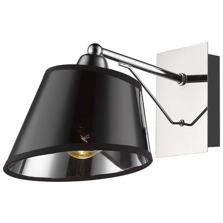 Бра Velante 296-101-01, 1xE27x60W, хром, черный, металл, пластик