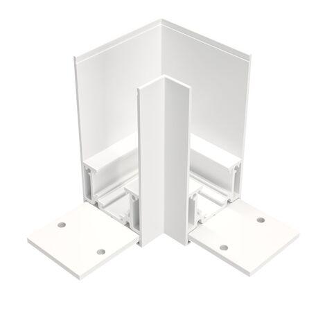 L-образный соединитель для треков Maytoni Magnetic track system TRA004CL-21W, белый, металл