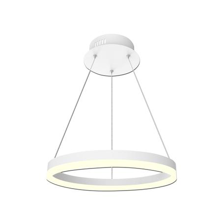 Подвесной светодиодный светильник Kink Light Тор-Эко 08212,01E, LED 20W 4000K 1400lm CRI>80, белый, пластик