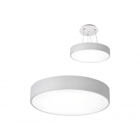 Потолочный светодиодный светильник Kink Light Медина 05480,01, LED 90W 4000K 8100lm CRI>80, белый, металл с пластиком