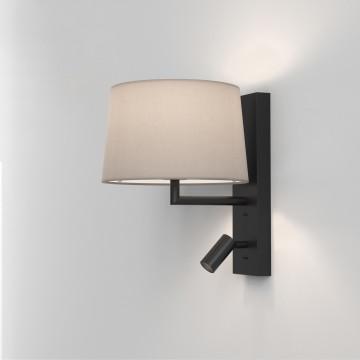 Основание бра с дополнительной подсветкой Astro Telegraph LED 1404013 (8587), 1xE27x12W + LED 4,1W 2700K 149lm CRI80, черный, металл