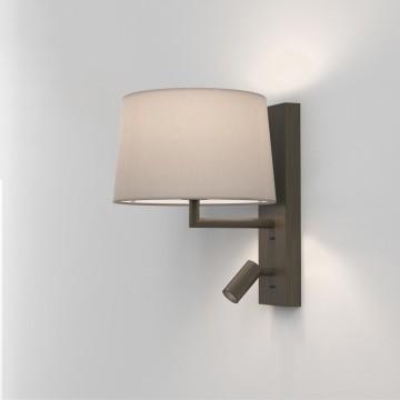 Основание бра с дополнительной подсветкой Astro Telegraph LED 1404015 (8589), 1xE27x12W + LED 4,1W 2700K 149lm CRI80, бронза, металл