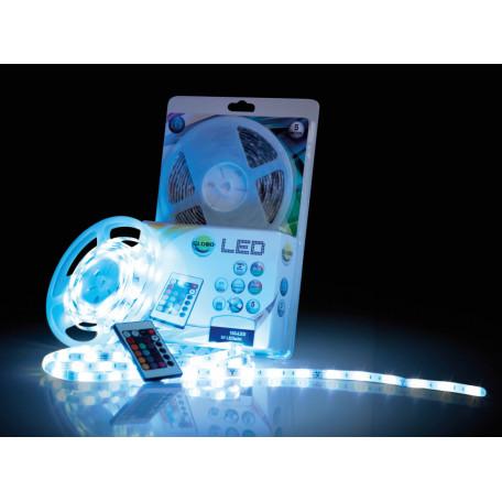 Светодиодная лента в комплекте с питанием Globo Led Band 38990, IP44, LED 25,5W 3,6691Wм RGB 475lm 68,345lmм, пластик