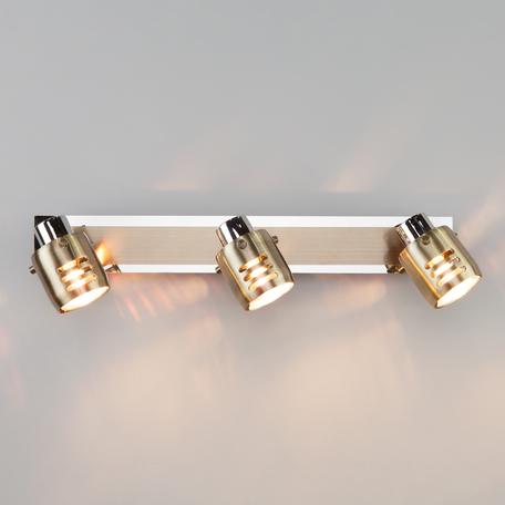 Настенный светильник Eurosvet Leonardo 23463/3 хром/античная бронза, 3xGU5.3x50W, бронза, металл