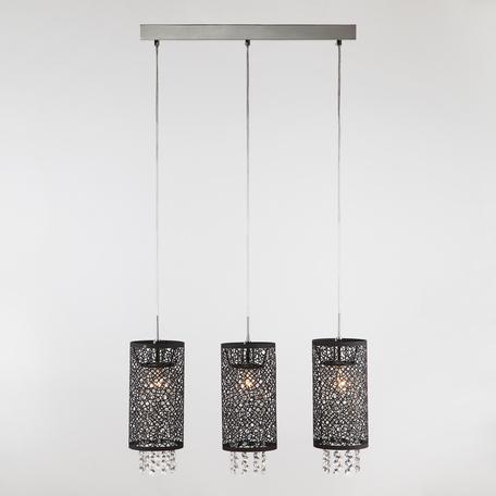 Подвесной светильник Eurosvet Laguna 1180/3 хром, 3xE14x60W, хром, черный, прозрачный, металл, хрусталь