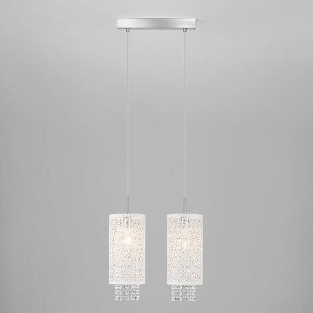 Подвесной светильник Eurosvet Laguna 1181/2 хром, 2xE14x60W, хром, белый, прозрачный, металл, хрусталь