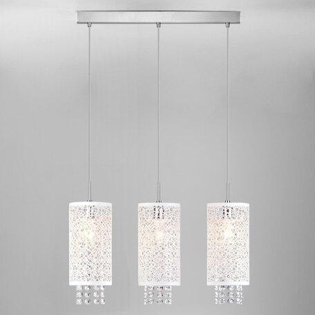 Подвесной светильник Eurosvet Laguna 1181/3 хром, 3xE14x60W, хром, белый, прозрачный, металл, хрусталь
