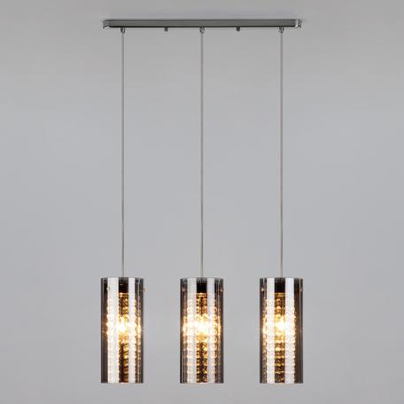 Подвесной светильник Eurosvet Amigo 1636/3 хром, 3xE14x60W, хром, дымчатый, металл, стекло
