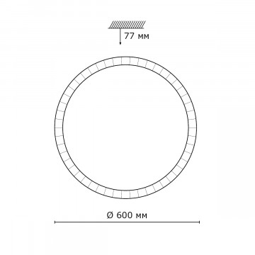 Схема с размерами Sonex 2036/FL
