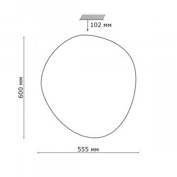 Схема с размерами Sonex 2039/EL