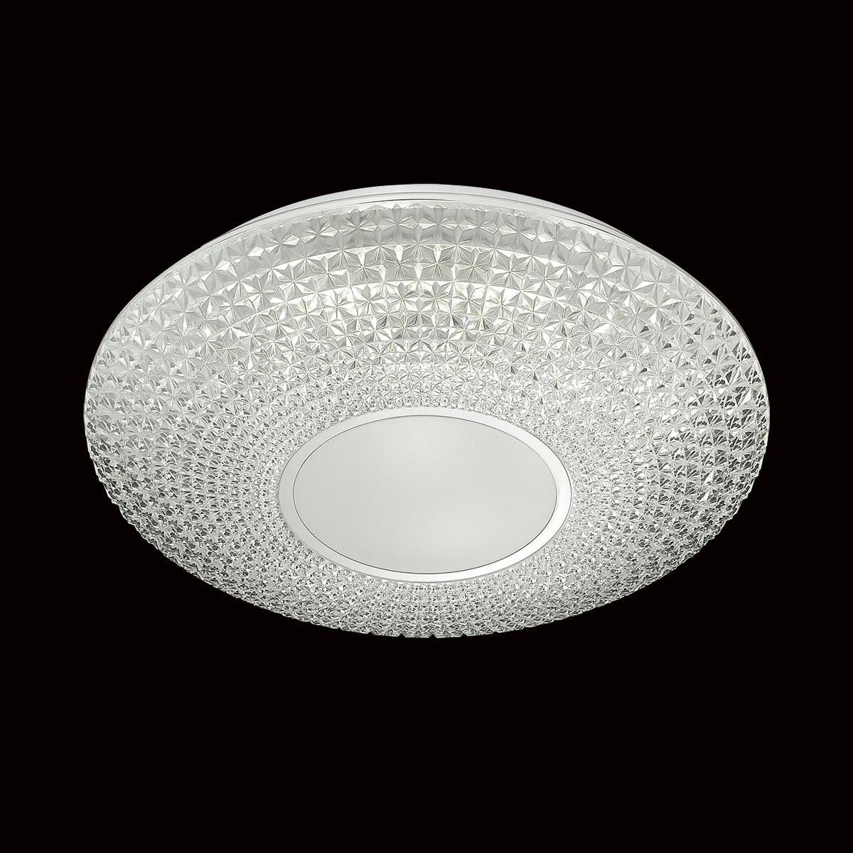 Потолочный светодиодный светильник с пультом ДУ Sonex Visma 2048/EL, IP43, LED 72W 3000-6500K 3612lm, белый, прозрачный, металл, пластик - фото 4