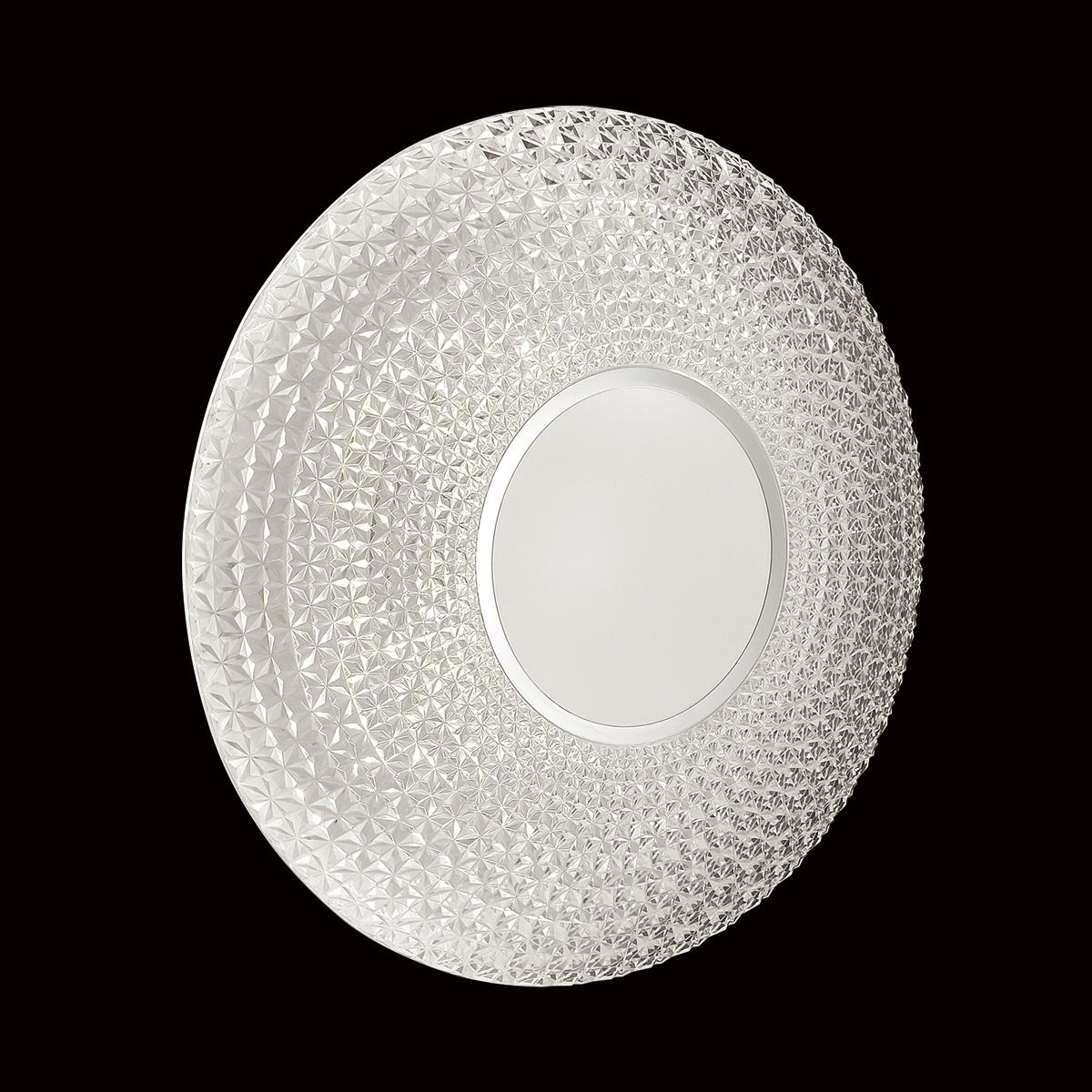 Потолочный светодиодный светильник с пультом ДУ Sonex Visma 2048/EL, IP43, LED 72W 3000-6500K 3612lm, белый, прозрачный, металл, пластик - фото 6