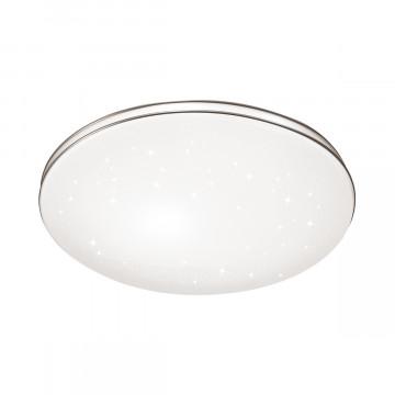 Потолочный светодиодный светильник Sonex Leka 2051/CL, IP43, LED 30W 4000K 3150lm, белый, белый с хромом, металл, пластик