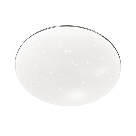Потолочный светодиодный светильник Sonex Abasi 2052/CL, IP43, LED 30W 4000K 3150lm, белый, хром, металл, пластик