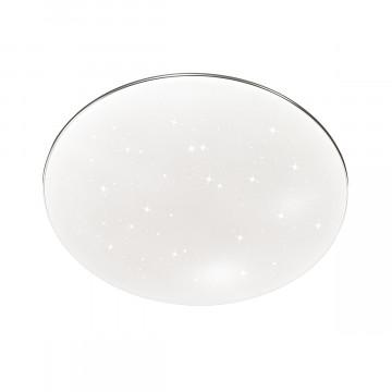 Потолочный светодиодный светильник Sonex Abasi 2052/DL, IP43, LED 48W 4000K 3400lm, белый, хром, металл, пластик