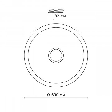 Схема с размерами Sonex 2054/EL